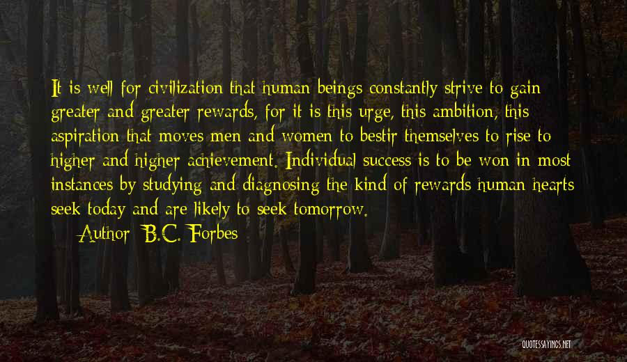 Strive For Success Quotes By B.C. Forbes