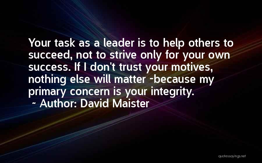 Strive For Success Quotes By David Maister