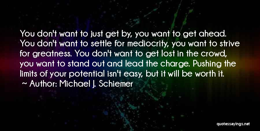 Strive For Success Quotes By Michael J. Schiemer