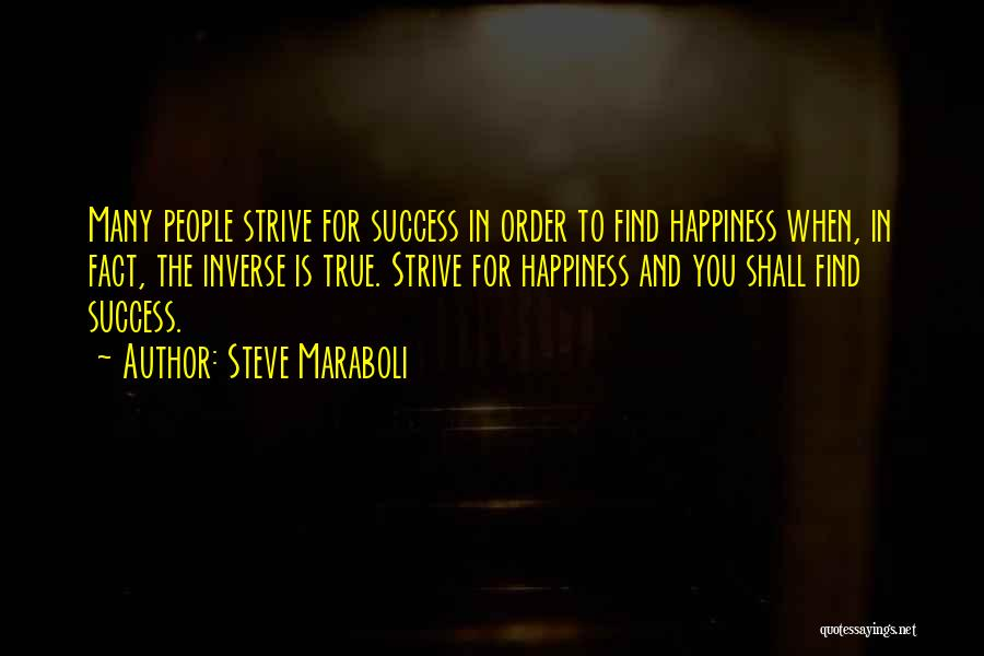 Strive For Success Quotes By Steve Maraboli