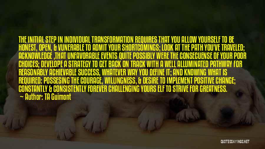 Strive For Success Quotes By TA Guimont
