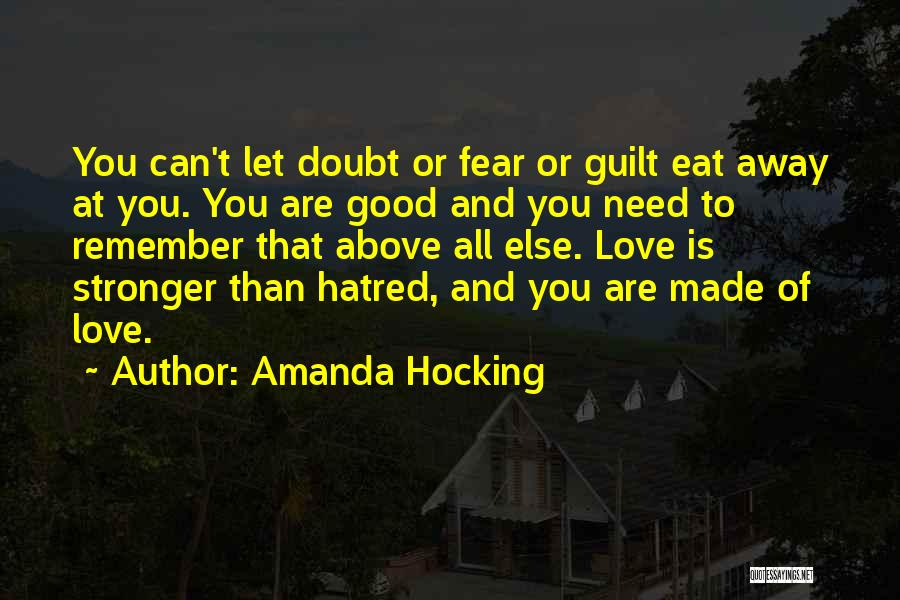 Stronger Love Quotes By Amanda Hocking