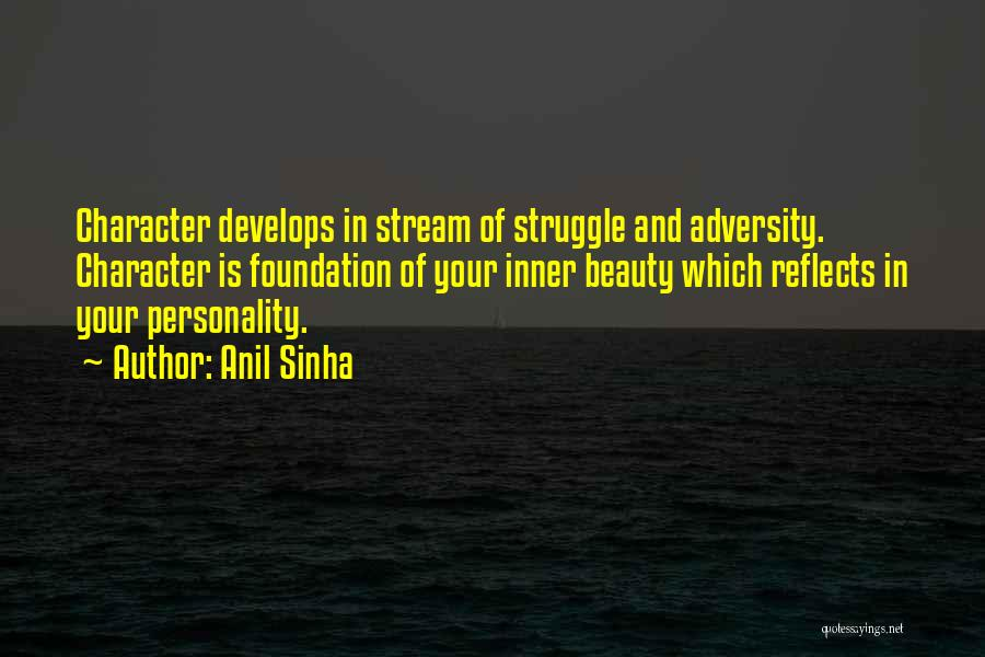 Struggle And Character Quotes By Anil Sinha