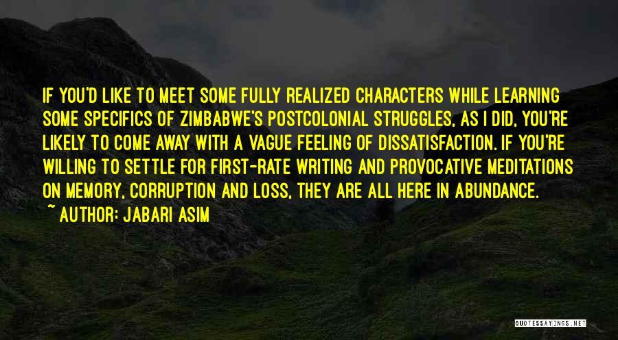 Struggle And Character Quotes By Jabari Asim