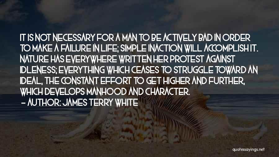 Struggle And Character Quotes By James Terry White