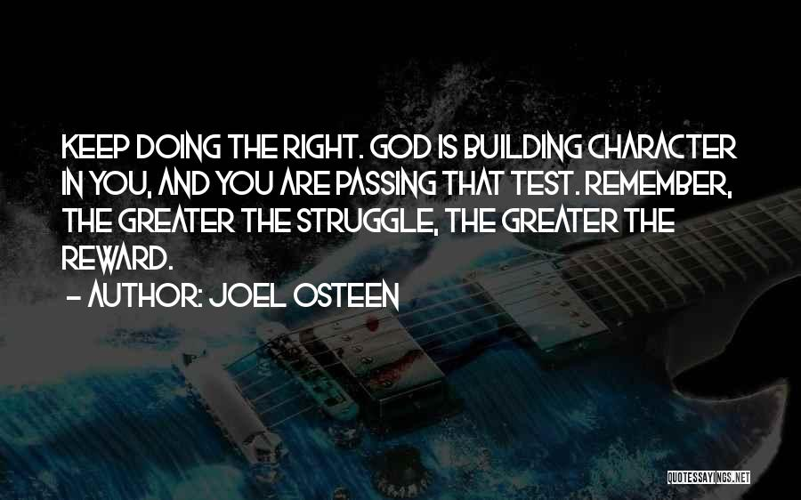 Struggle And Character Quotes By Joel Osteen