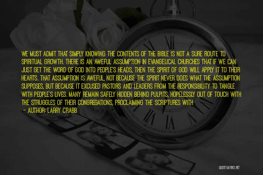 Struggles In The Bible Quotes By Larry Crabb