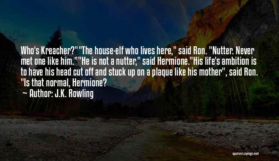 Stuck Like Quotes By J.K. Rowling