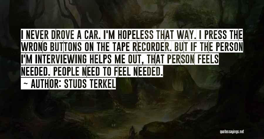 Studs Terkel Quotes 409417