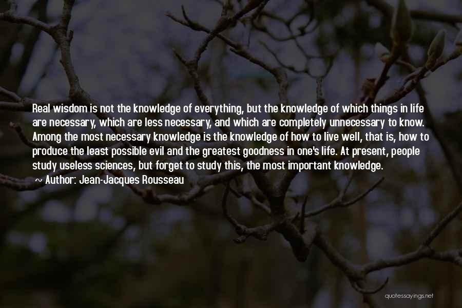 Study Is Very Important Quotes By Jean-Jacques Rousseau