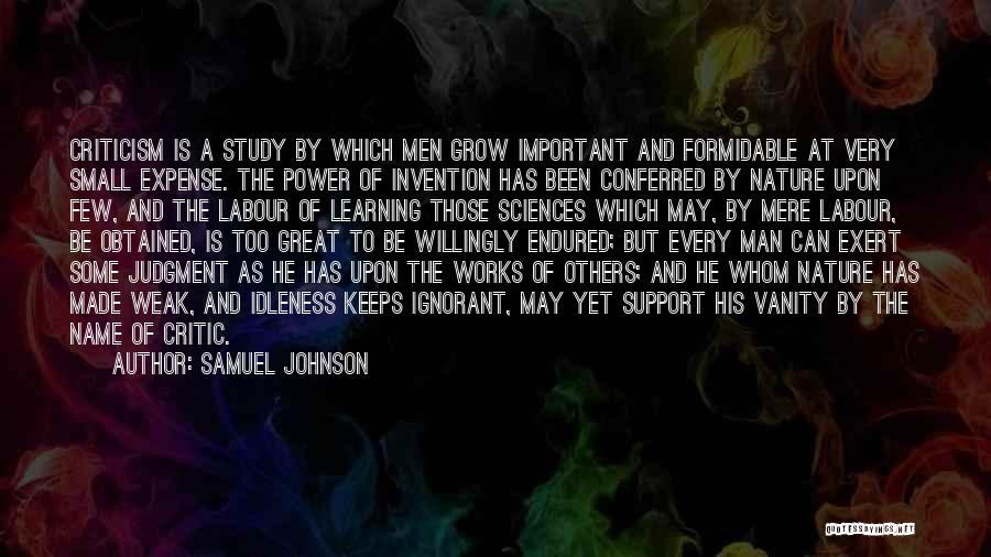 Study Is Very Important Quotes By Samuel Johnson