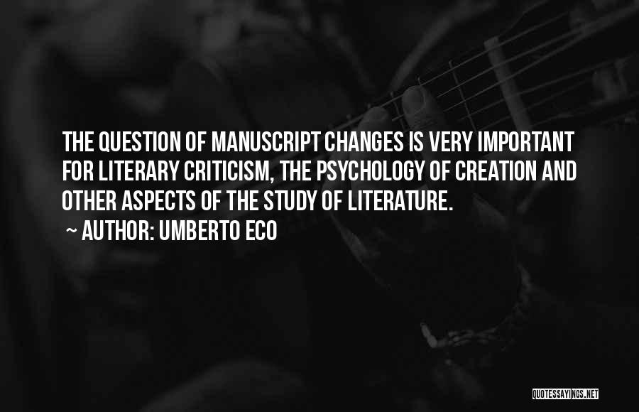 Study Is Very Important Quotes By Umberto Eco