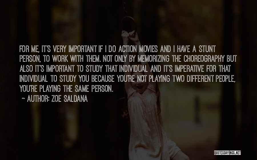 Study Is Very Important Quotes By Zoe Saldana