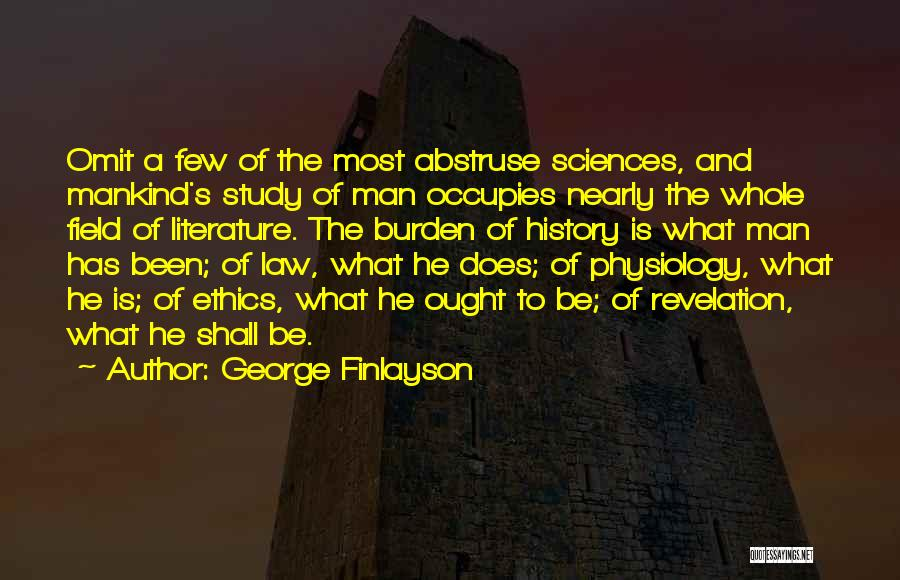 Study Of History Quotes By George Finlayson