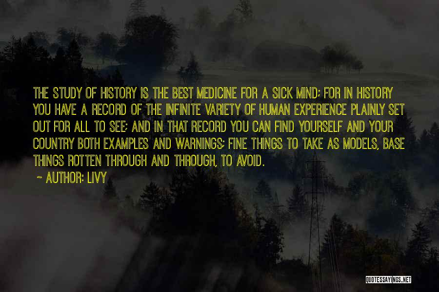 Study Of History Quotes By Livy