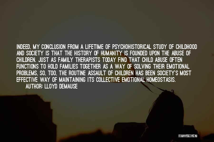 Study Of History Quotes By Lloyd DeMause