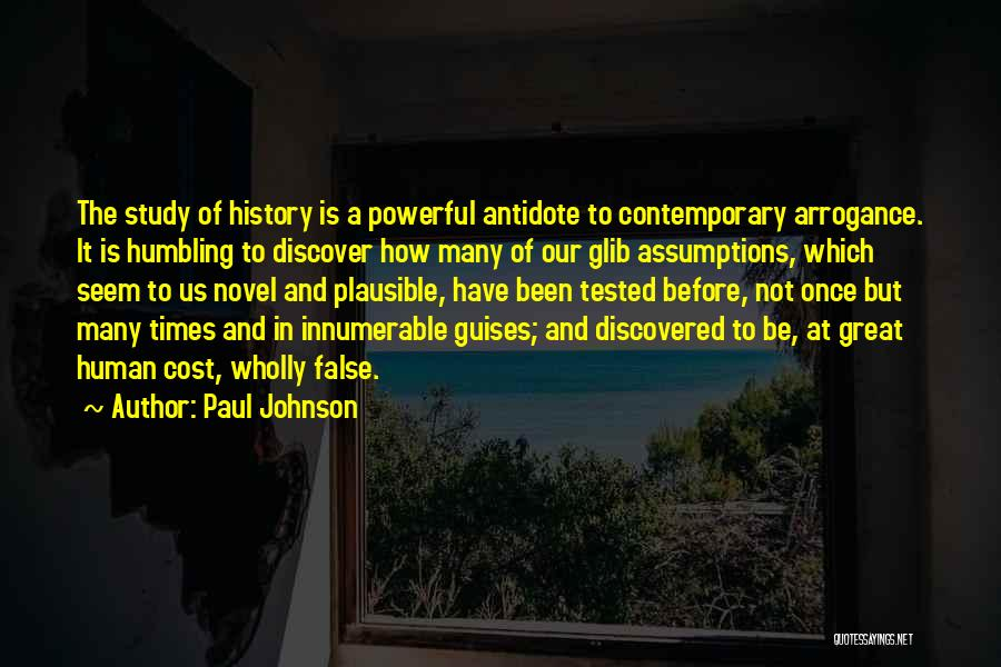 Study Of History Quotes By Paul Johnson