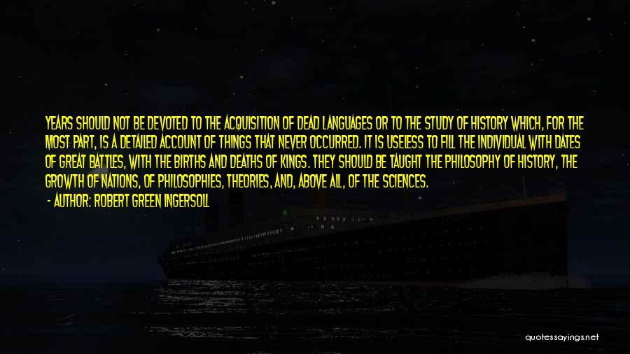 Study Of History Quotes By Robert Green Ingersoll