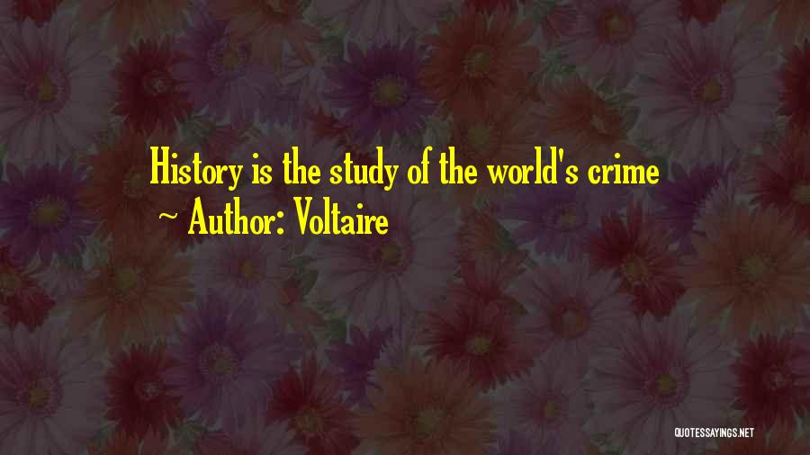 Study Of History Quotes By Voltaire