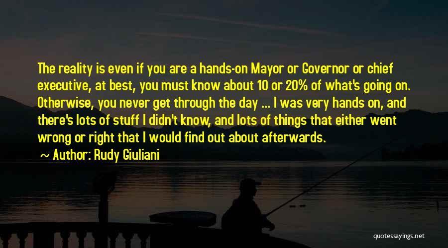 Stuff Going Wrong Quotes By Rudy Giuliani