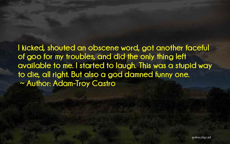 Stupid And Funny Quotes By Adam-Troy Castro