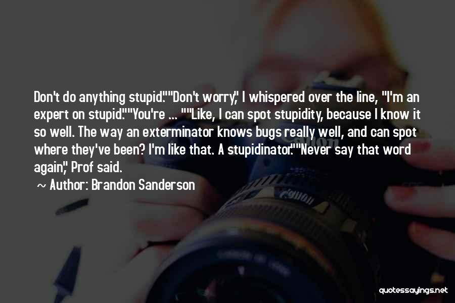 Stupid And Funny Quotes By Brandon Sanderson