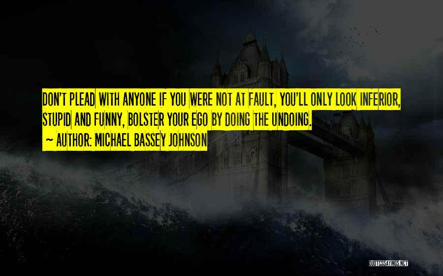 Stupid And Funny Quotes By Michael Bassey Johnson