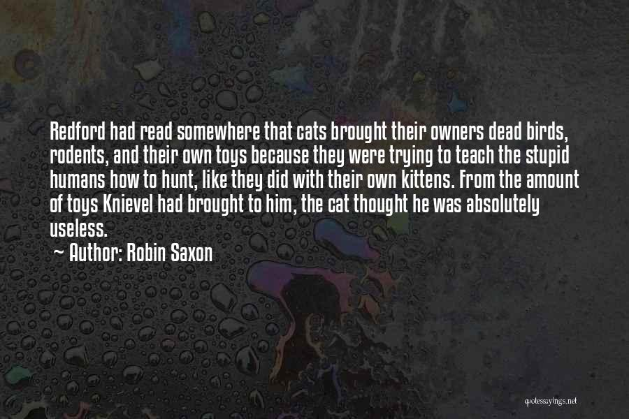 Stupid And Funny Quotes By Robin Saxon