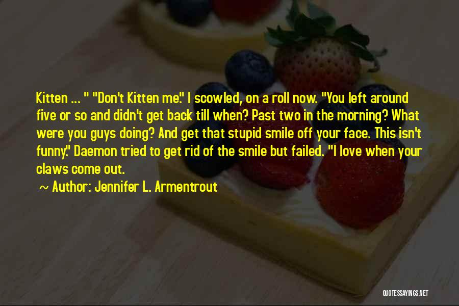 Stupid But Funny Quotes By Jennifer L. Armentrout