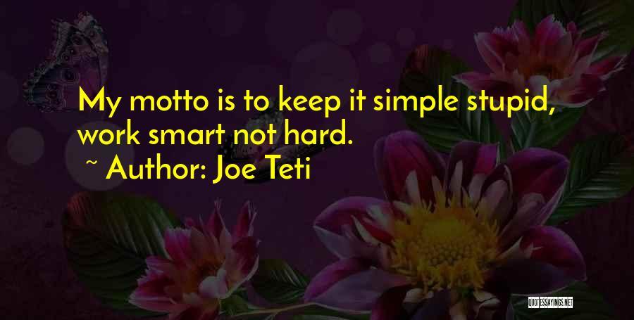 Stupid Simple Quotes By Joe Teti