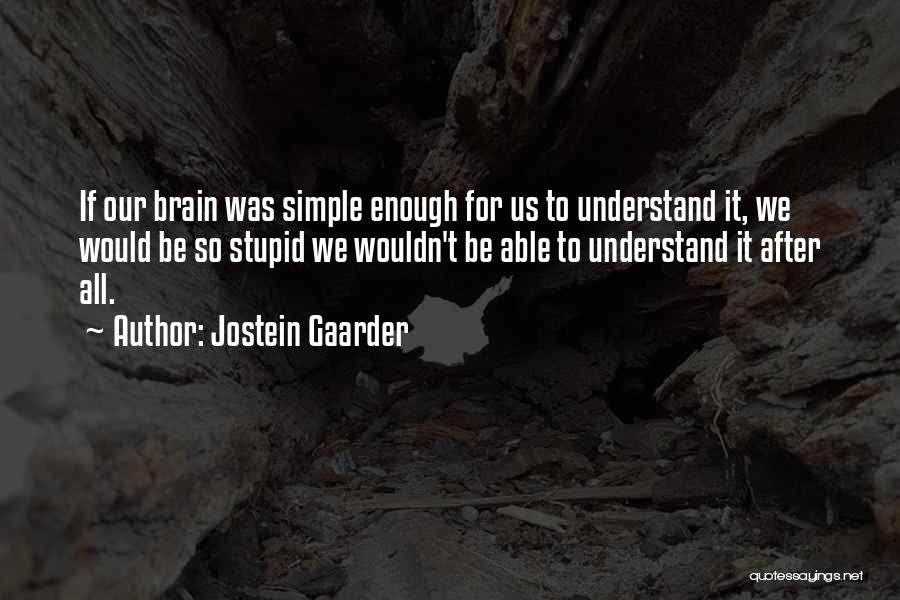 Stupid Simple Quotes By Jostein Gaarder
