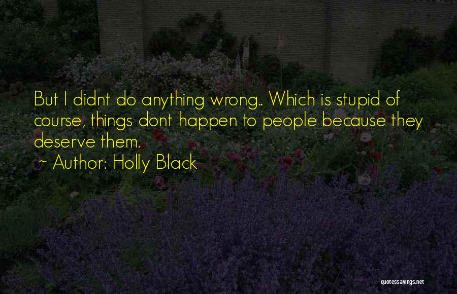 Stupid Things Happen Quotes By Holly Black