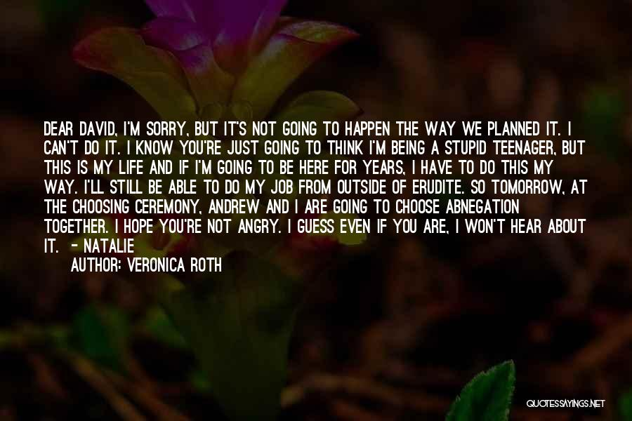 Stupid Things Happen Quotes By Veronica Roth