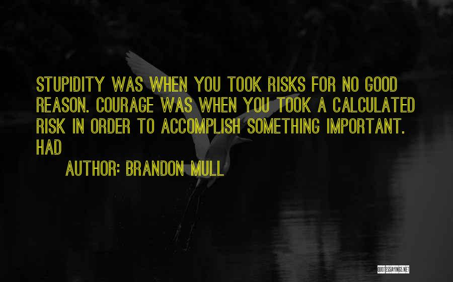Stupidity And Courage Quotes By Brandon Mull
