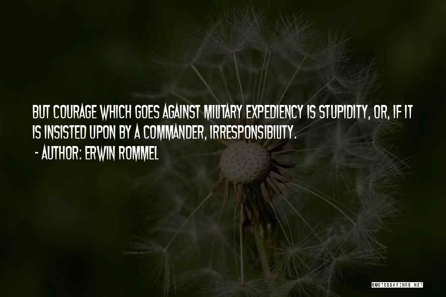 Stupidity And Courage Quotes By Erwin Rommel