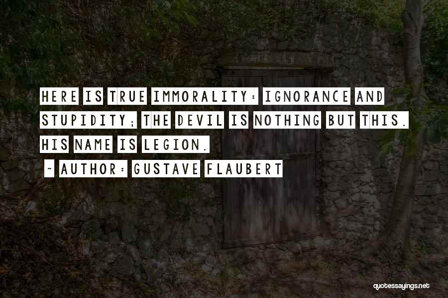 Stupidity And Ignorance Quotes By Gustave Flaubert