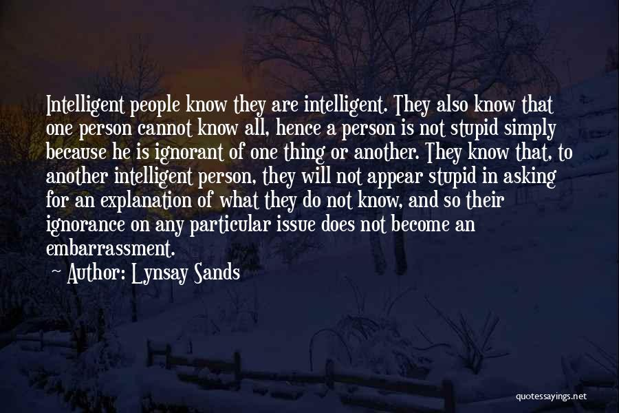 Stupidity And Ignorance Quotes By Lynsay Sands