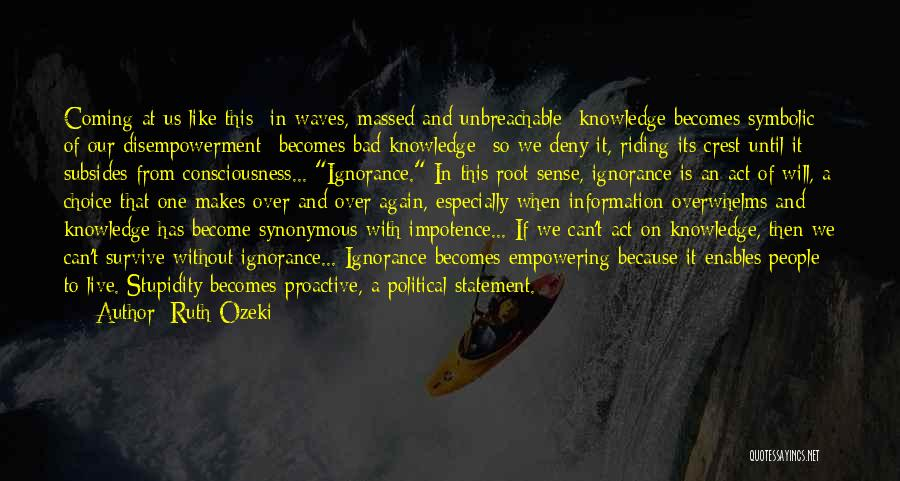 Stupidity And Ignorance Quotes By Ruth Ozeki