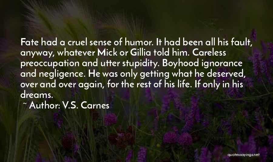 Stupidity And Ignorance Quotes By V.S. Carnes
