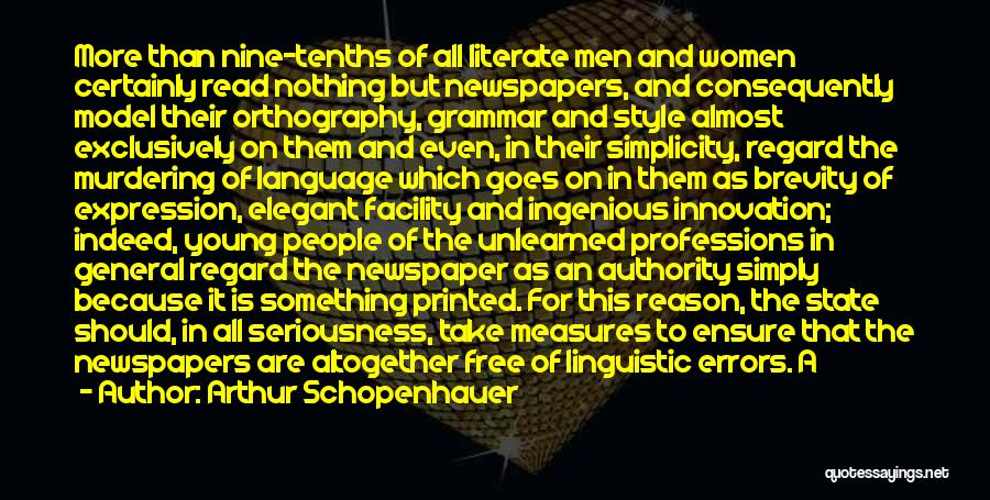 Style And Simplicity Quotes By Arthur Schopenhauer