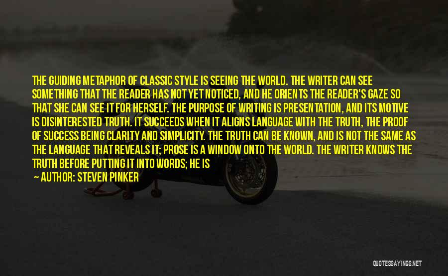 Style And Simplicity Quotes By Steven Pinker