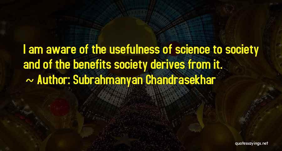 Subrahmanyan Chandrasekhar Quotes 1789427
