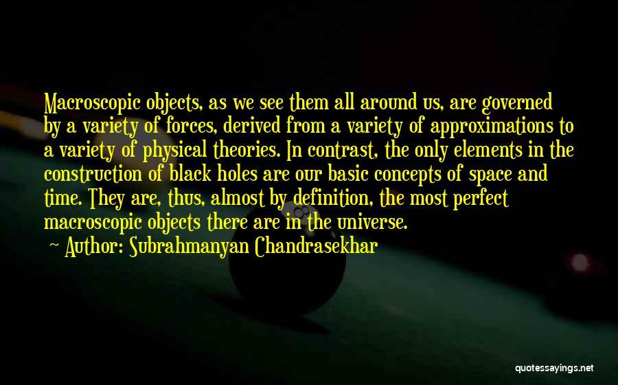 Subrahmanyan Chandrasekhar Quotes 194027