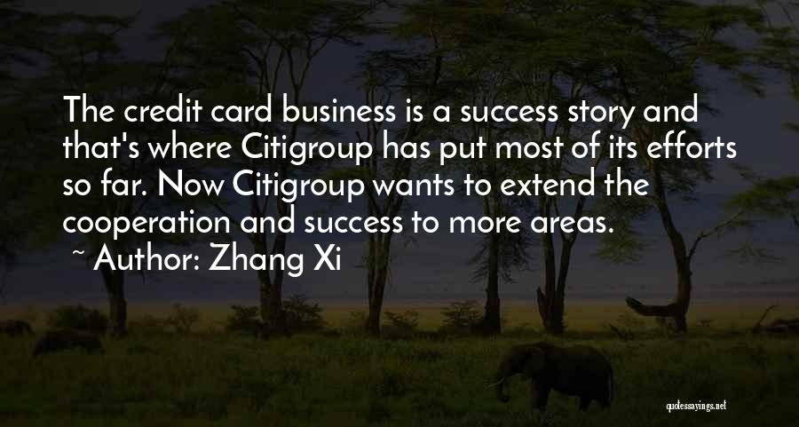 Success And Cooperation Quotes By Zhang Xi