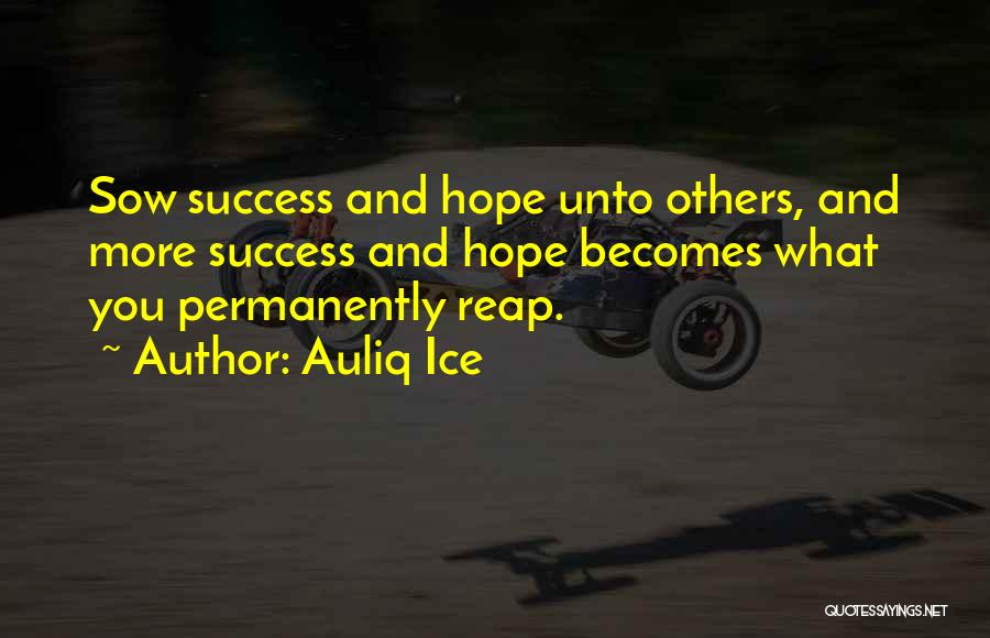 Success And Happiness Quotes By Auliq Ice