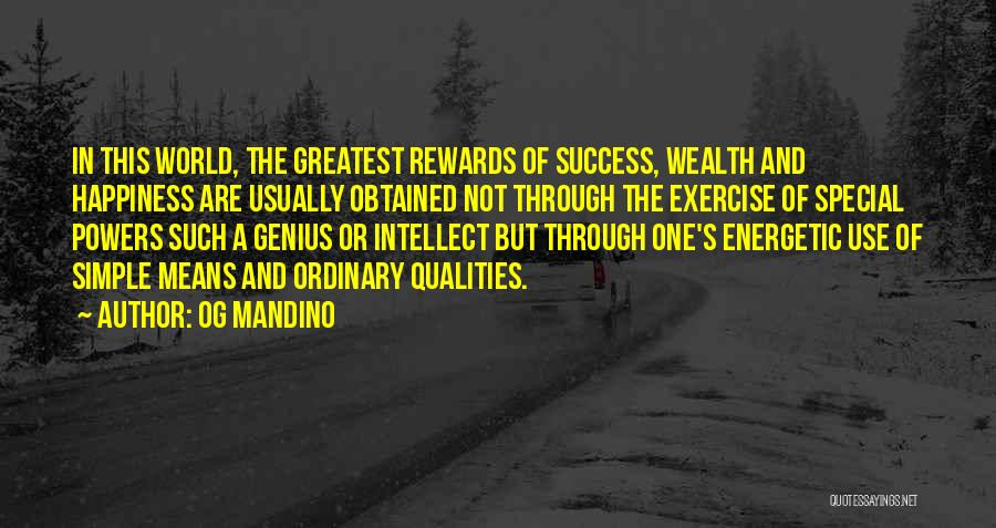 Success And Happiness Quotes By Og Mandino