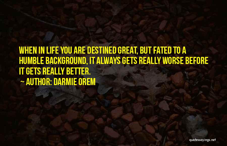 Success Comes Before Work Quotes By Darmie Orem