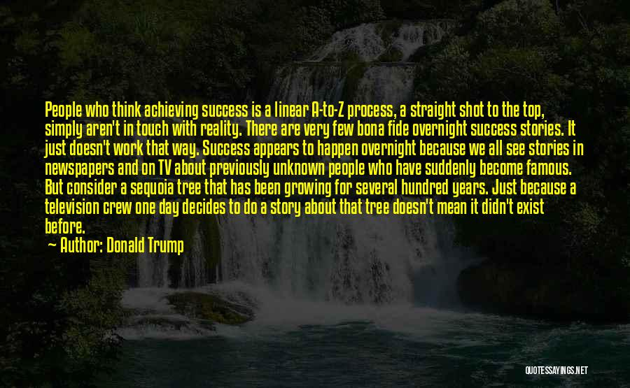 Success Comes Before Work Quotes By Donald Trump