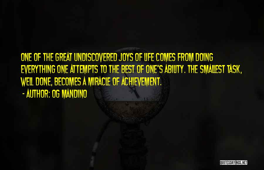 Success Comes Quotes By Og Mandino