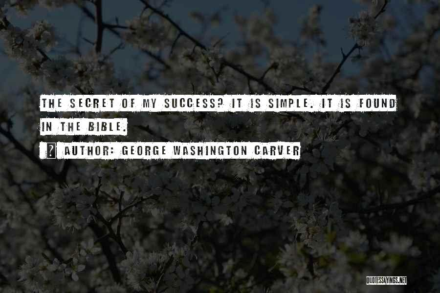 Success In The Bible Quotes By George Washington Carver